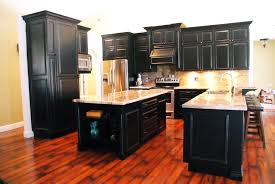 Distress Kitchen Cabinets Perfect Distressed Black Kitchen Cabinets Antiqued Painted Cliff