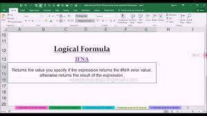 Spreadsheet Software Examples Ifna Logical Function With Example In Ms Office Excel Spreadsheet