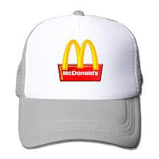 amazon com ancatt mcdonald logo adjustable snapback cap baseball