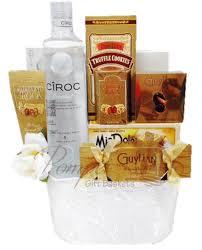 vodka gift baskets wedding wishes vodka gift basket by pompei baskets