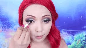 mermaid makeup tutorial disney princess ariel hair
