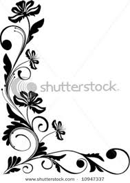 best and beautiful black and white floral corner borders and