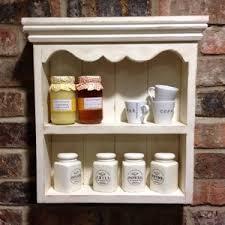 shabby chic shelf wall unit in cream for kitchen bathroom ha