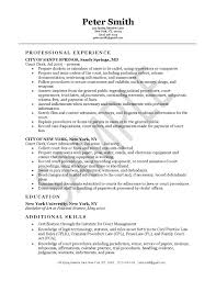 Sample Resume With Objective by Clerk Resume Example