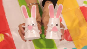 easter bunny cup craft elc youtube