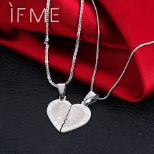 s day pendants if me s day couples promise half heart