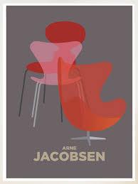 plakat design arne jacobsen dansk design ikon aegget svanen syveren stol moeble