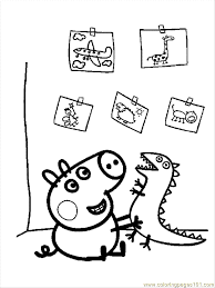 free printable peppa pig coloring pages coloring