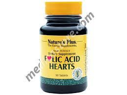 Obat Folac nature s plus folic acid hearts asam folat