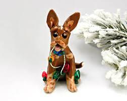 australian shepherd blue merle christmas ornament figurine