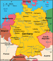 geographical map of germany map of germany