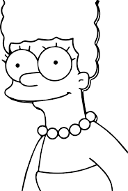 marge the simpsons coloring page wecoloringpage