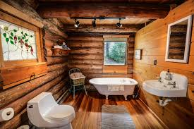 log cabin bathroom free stock photo public domain pictures