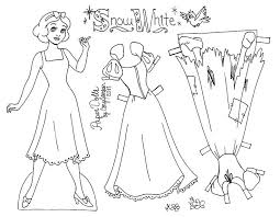 printable paper dolls snow white to color printable paper dolls snow white line art paper