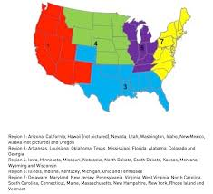 Us Region Map Links Region 3 Acro