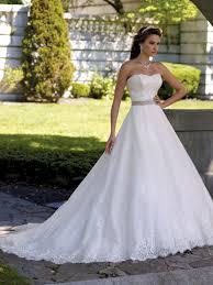 david bridals strapless lace bodice a line margie david bridal dress tutera mon