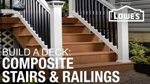 how to build a deck composite stairs u0026 railings 4 of 5 youtube