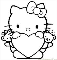 kitty 04 coloring free kitty coloring pages