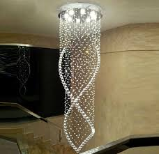 Jumping Light Luxury Double Staircase Light Long Chandelier Jumping Room Living