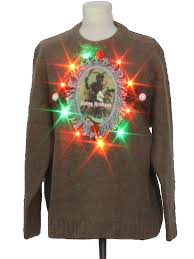 mens light up ugly christmas sweater mens multicolor lightup krus wool ugly christmas sweater