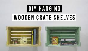 diy hanging shelves made of recycled wooden crates hative
