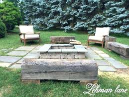 Firepit Benches Benches Around Pit Large Image For Wood Beam Benches Around