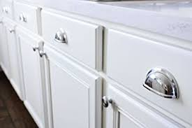 kitchen cabinet cup pulls amazon com 3 polished chrome kitchen cabinet drawer bin cup pull