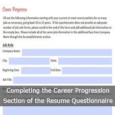 Resume Questionnaire Template Tips For Completing The Resume Questionnaire