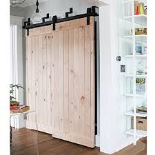Sliding Barn Doors For Closets Winsoon Ship From Usa 5ft Antique Bypass Sliding Barn Wood