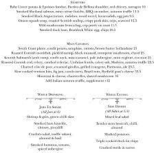 Resume For Server Job by The Social Eating House Menu Menu For The Social Eating House