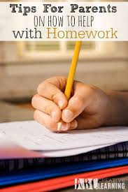 Tips for Parents On How to Help With Homework  Homework time doesn     t have Pinterest