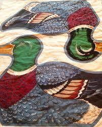 vintage mallard duck pillow fabric panel cranston print works co