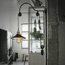 Discount Outdoor Wall Lighting - the most cheap industrial lighting pulley shaped adjustable wall