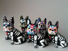 Halloween Skeleton Dog by Day Of The Dead Boston Terrier Dog Sugar Skull Pet Memorial Dia De