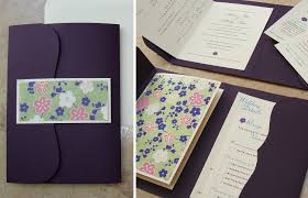 Folded Wedding Invitations Custom Wedding Invitation Bilingual Booklet Pocket U2013 Papercake