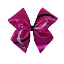 custom hair bows the black white silver mystique cheer hair bow