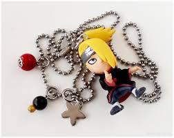 naruto anime necklace images Naruto shippuden deidara charm necklace stainless steel ball jpeg