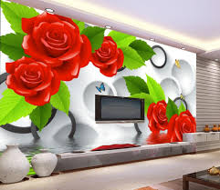 home decoration 3d flower wallpaper rose 3d mural wallpaper 3d