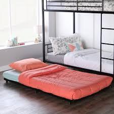 Low Bed Frames Walmart Black Metal Twin Bed Roll Out Trundle Frame Walmart Com
