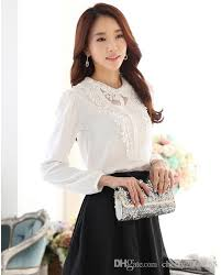 beautiful blouses beautiful sleeve chiffion appliques blouses