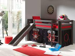 chambre fille avec lit mezzanine lit mezzanine enfant avec toboggan en pin massif taupe laqué