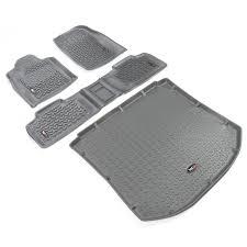 2011 jeep grand laredo accessories all terrain floor liner kit gray 2011 16 grand wk