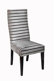 Black And White Striped Chair by Black And Grey Striped High Back Dining Chair With Black Colored