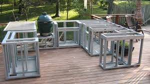 how to build a outdoor kitchen island excellent how to build an outdoor kitchen on a deck home remodel 974