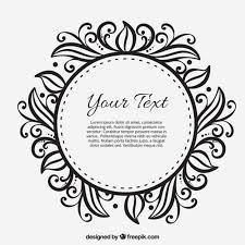 ornamental frame template vector free