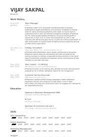 Business Management Resume Sample by Team Manager Resume Samples Visualcv Resume Samples Database