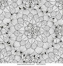 zen patterns coloring pages stock illustration black white horse print ethnic patterns coloring
