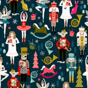 retro wrapping paper retro christmas fabric wallpaper gift wrap spoonflower