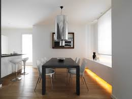 eased edge profile top added benches minimalist dining room design