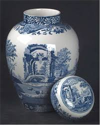 blue italian ginger jar with lid by spode at replacements ltd